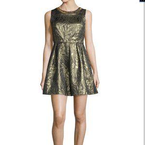 Romeo + Juliet Embellished Gold Dress